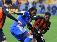 Primeiro liga ucraniana: Dínamo Kyiv contra Shakhtar Donetsk foto de stock