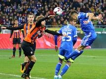 Primeiro liga ucraniana: Dínamo Kyiv contra Shakhtar Donetsk fotografia de stock