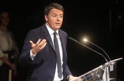 Primeiro Matteo Renzi Fotografia de Stock