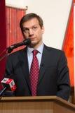 Primeiro ministro anterior de Hungria, Sr. Gordon Bajnai fotografia de stock