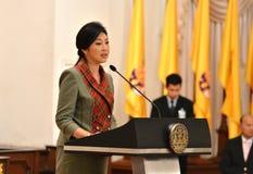 Primeiro ministro de Yingluck Shinawatra Tailândia Imagens de Stock