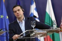 Primeiro ministro grego Alexis Tsipras Fotografia de Stock