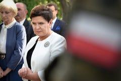 Primeiro ministro polonês Beata Szydlo Imagens de Stock Royalty Free