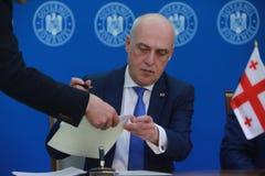 Primeiro ministro romeno Viorica Dancila fotografia de stock