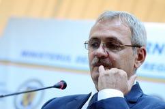 Primeiro ministro vice de Roménia, Liviu Dragnea Foto de Stock