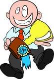 Primeiro prêmio para o homem de negócios Fotografia de Stock
