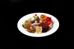 Primeiro prato em uma placa, espaço da cópia Fotografia de Stock