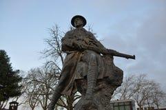 Primeiro soldado da guerra mundial - Portas faça o solenoide - Santarém - Portugal fotografia de stock