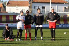 Primeiro treinamento dos dragões dos Catalans Fotos de Stock Royalty Free