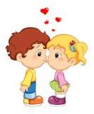 Primeiros beijos Fotos de Stock Royalty Free