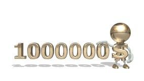 Primeiros milhão dólares Imagem de Stock Royalty Free