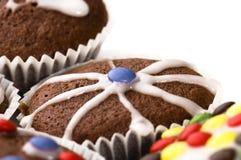 Primeiros queques do chocolate Fotografia de Stock Royalty Free