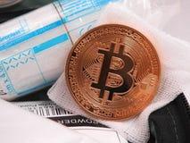 Primeiros socorros de Bitcoin fotografia de stock royalty free
