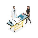 Primeiros socorros no hospital ilustração do vetor