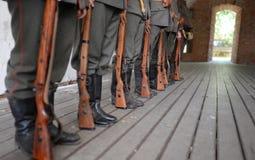 primeiros soldados da guerra mundial Foto de Stock