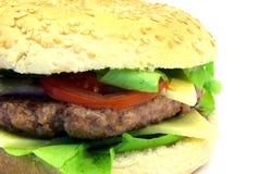 Primer 1 de la hamburguesa Fotografía de archivo