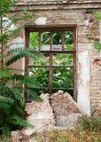 Primer abandonado de la casa del ladrillo Fotografía de archivo libre de regalías