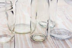 Primer abstracto de las botellas de cristal Fotografía de archivo libre de regalías