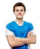 Primer adolescente del jugador de fútbol Fotos de archivo libres de regalías