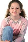 Primer adolescente ocasional de la muchacha Fotografía de archivo