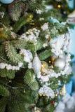 Primer adornado del árbol de navidad fotos de archivo libres de regalías