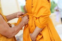 Primer al monje budista nuevamente ordenado Fotografía de archivo libre de regalías