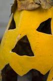 Primer amarillo de la calabaza de Halloween Imagen de archivo