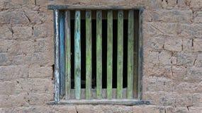 Primer antiguo chino de la ventana de la casa imágenes de archivo libres de regalías