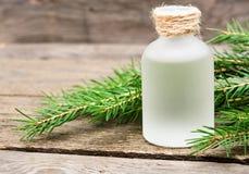 Primer aromático esencial de la picea del aceite fotos de archivo
