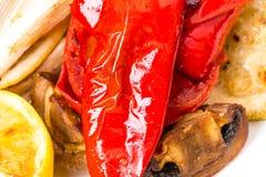 Primer asado a la parrilla de las verduras Foto de archivo