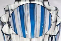 Primer azul cristalino del florero Imagen de archivo libre de regalías