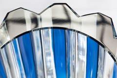 Primer azul cristalino del florero Fotos de archivo libres de regalías