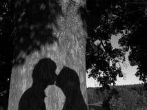 Primer beso Fotografía de archivo libre de regalías