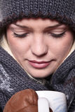 Primer caliente de la bebida del invierno imágenes de archivo libres de regalías