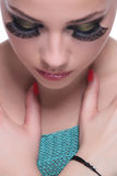 Primer casual de la cara de la mujer Imagen de archivo