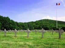 Primer cementerio de la guerra Foto de archivo libre de regalías