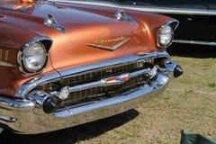 Primer clásico del detalle del coche de Chevy del americano Fotografía de archivo