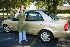Primer coche adolescente Foto de archivo