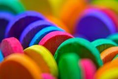 Primer colorido de los palillos foto de archivo libre de regalías