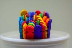 Primer colorido de los palillos foto de archivo