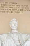 Primer conmemorativo de Lincoln, Washington DC los E.E.U.U. Imágenes de archivo libres de regalías