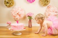 Primer cumpleaños Fotografía de archivo