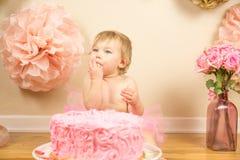 Primer cumpleaños Foto de archivo libre de regalías