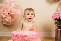 Primer cumpleaños Fotografía de archivo libre de regalías