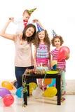 Primer cumpleaños del año del niño pequeño Imagen de archivo