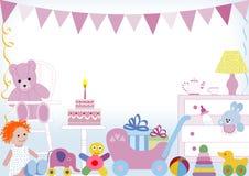 Primer cumpleaños Imágenes de archivo libres de regalías