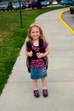 Primer día de escuela Imágenes de archivo libres de regalías