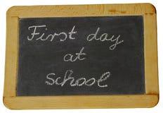 Primer día de escuela Fotos de archivo libres de regalías