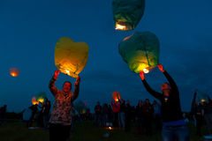 Primer día de festival del verano Imagen de archivo libre de regalías