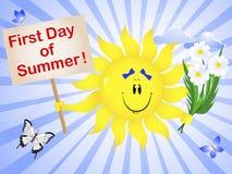 Primer día de verano. ilustración del vector